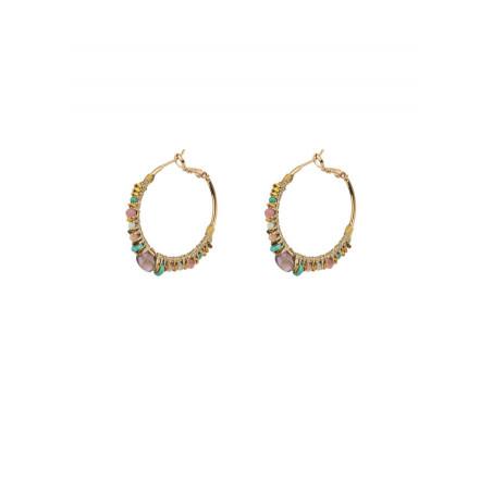 Glamorous garnet hoop earrings for pierced ears | Plum