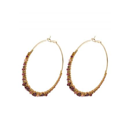 Romantic hoop earrings for pierced ears with beads | Pearl