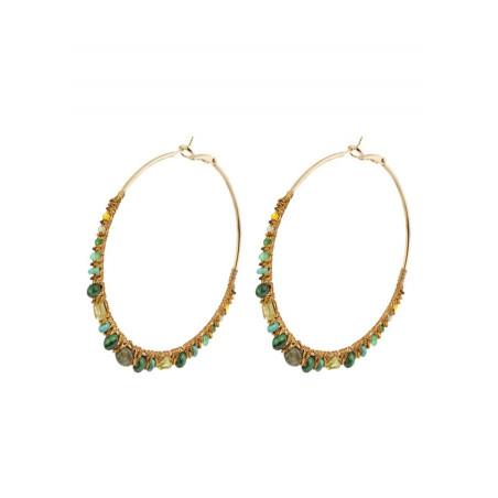On-trend amazonite hoop earrings for pierced ears | Multiblue