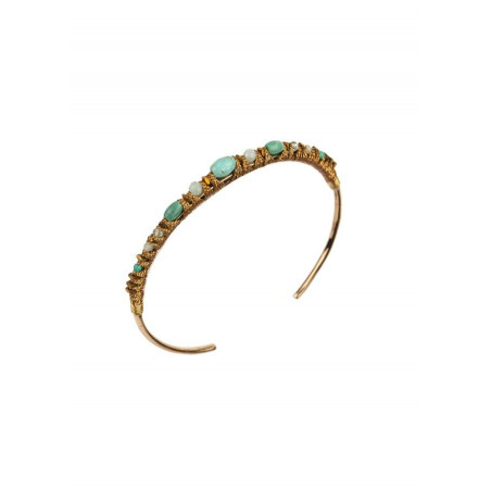 Bohemian bangle with amazonite and howlite l Multiblue