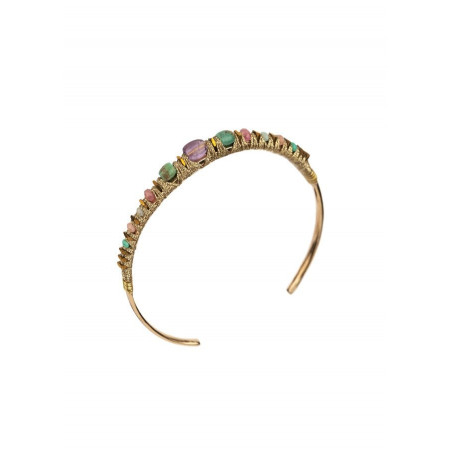 Refined bangle with turquoise and amethyst | Mauve