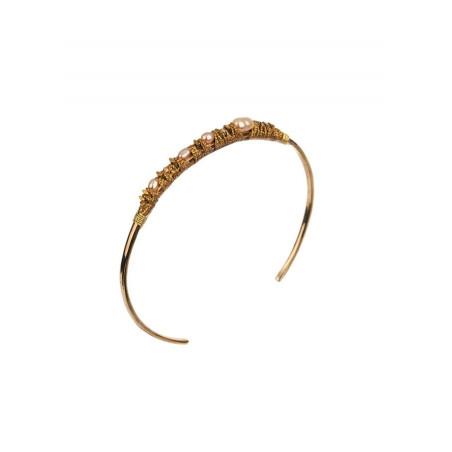 Bracelet jonc élégant perles | Perle