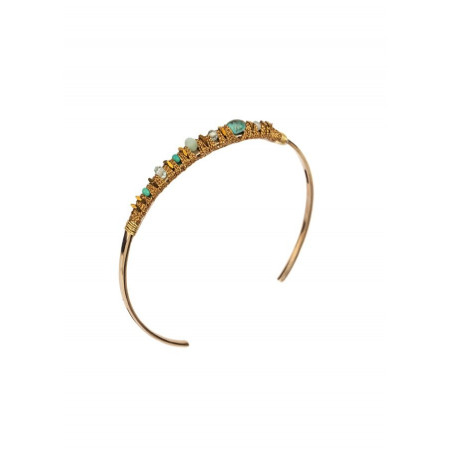 Bohemian chic bangle with- howlite and amazonite l Multiblue