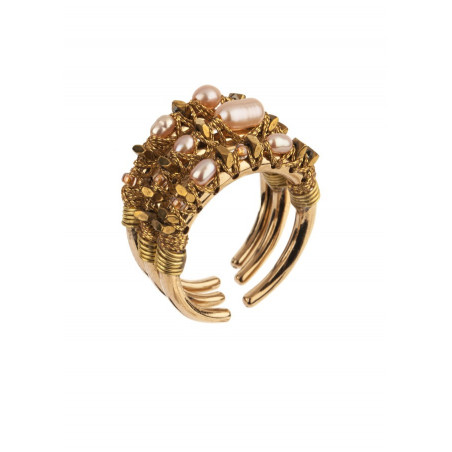 Refined multiple rings with pearls l Pearl