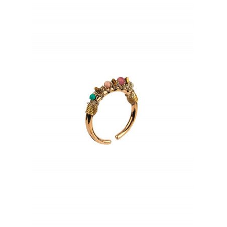 Refined amethyst and tourmaline ring l Mauve