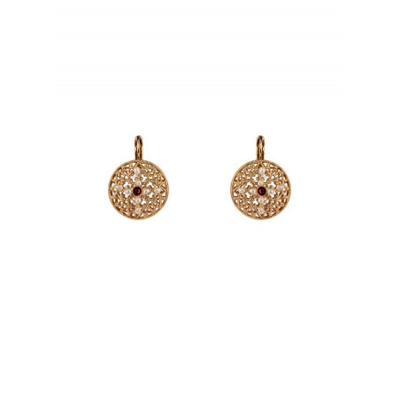 Refined sleeper earrings with crystal l Pearl