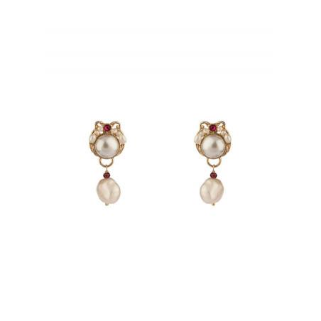 Boucles d'oreilles clips perles de rivière cristal | Perle