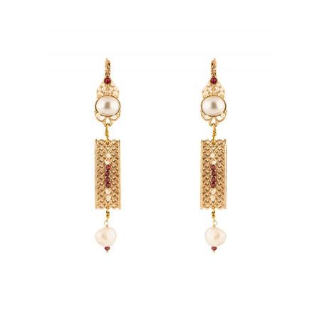 Sublime freshwater pearl sleeper earrings|Pearl