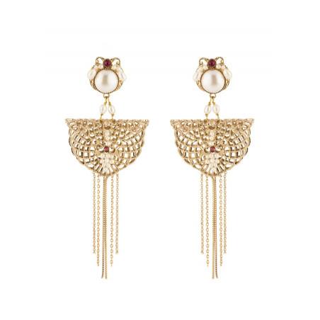 Boucles d'oreilles clips glamour cristal   Perle