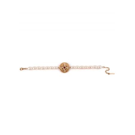 Bracelet souple romantique perles et cristal   Perle71560