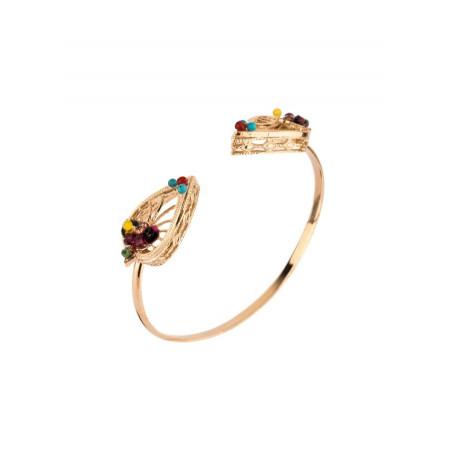 Bracelet jonc baroque pierres et sequins | Multicolore