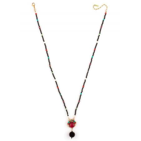 Collier pendentif raffiné perles et pierres   Multicolore71593