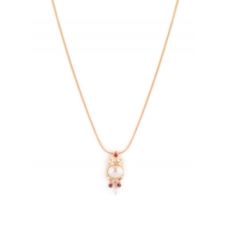 Fashionable freshwater pearl crystal pendant necklace   Pearl
