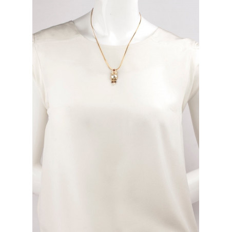 Fashionable freshwater pearl crystal pendant necklace   Pearl71606