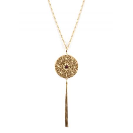 Collier mi-long féminin perles de rivière et grenats | Perle