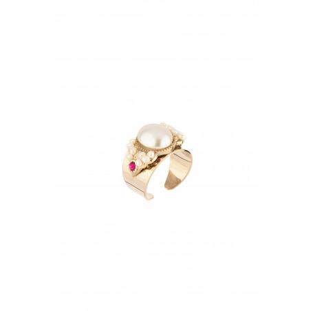 Bague élégante perles de rivière cristal | Perle