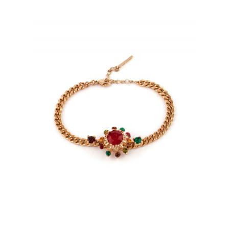 Bracelet souple solaire cristal rouge   Rouge