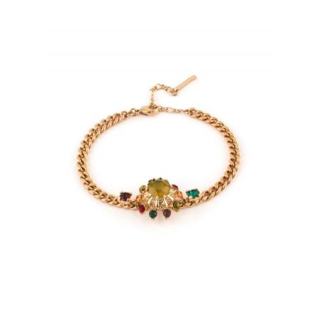Bracelet souple féminin cristal vert | Vert