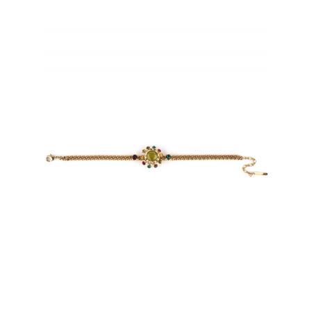 Bracelet souple féminin cristal vert | Vert71772