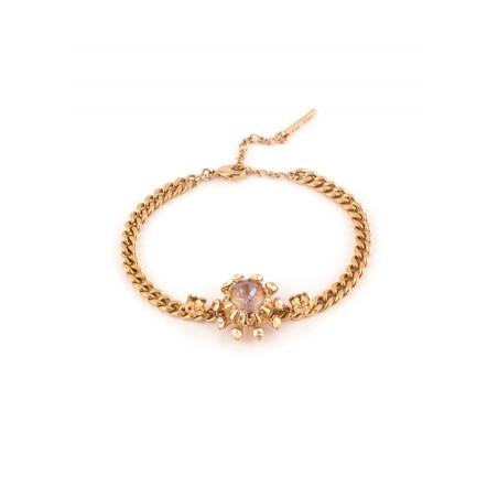 Bracelet souple délicat cristal | Vieux rose