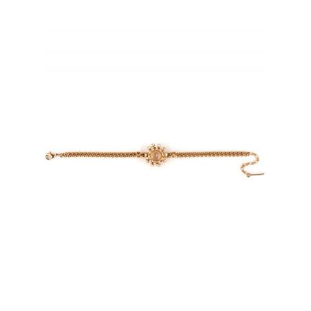 Bracelet souple délicat cristal | Vieux rose71775