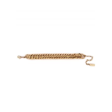 Chic crystal flexible chain bracelet   Antique pink71781