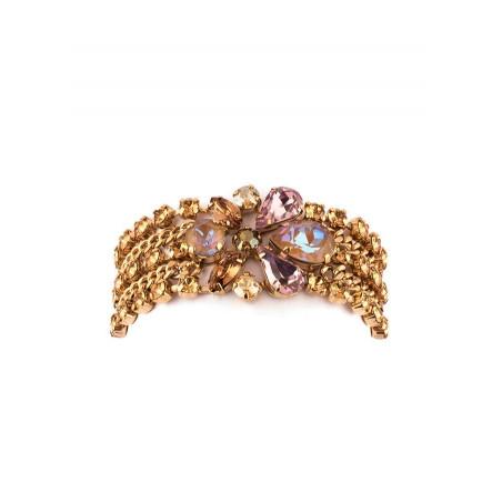 Bracelet souple solaire strass et cristaux | Vieux rose71791
