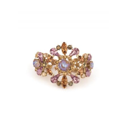 Romantic rhinestone crystal flexible bracelet | Antique pink