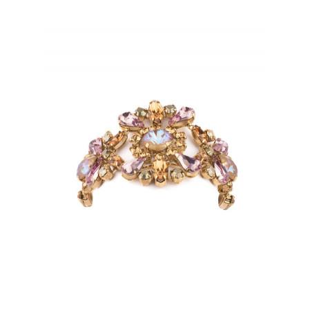 Romantic rhinestone crystal flexible bracelet | Antique pink71801