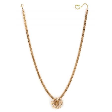 Collier pendentif arty cristaux | Vieux rose71808