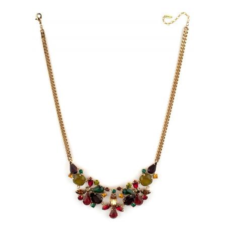 Collier mi-long raffiné cristaux | Multicolore71836