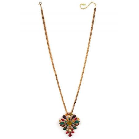 Collier sautoir festif strass et cristaux   Multicolore71852