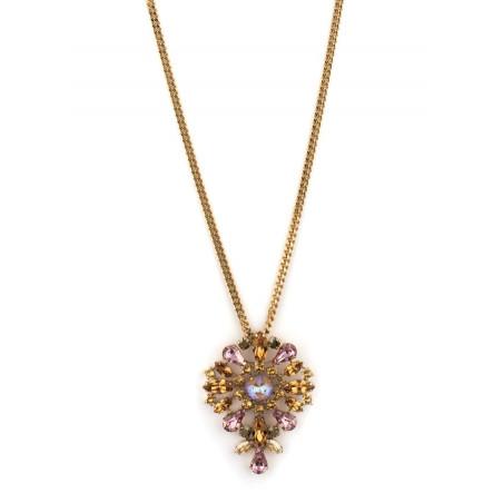 Bohemian rhinestone bohemian sautoir necklace | Antique pink