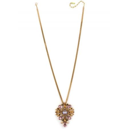 Bohemian rhinestone bohemian sautoir necklace | Antique pink71856