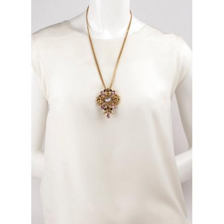 Bohemian rhinestone bohemian sautoir necklace | Antique pink71857