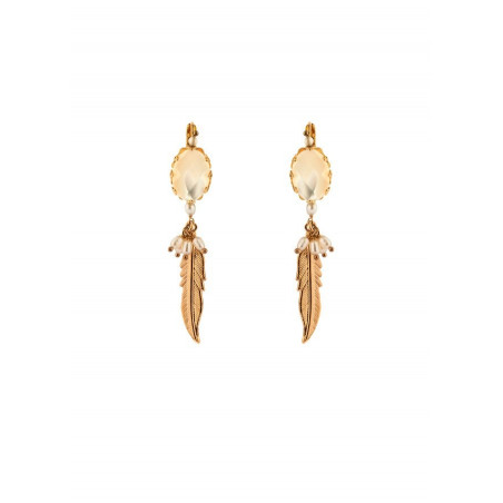 Boucles d'oreilles dormeuses raffinées nacre blanche | perle