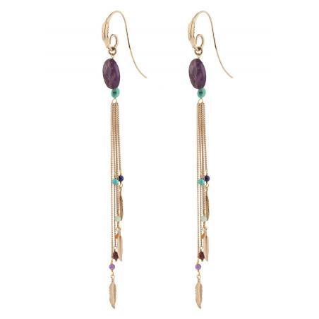 Airy amethyst earrings for pierced ears | mauve