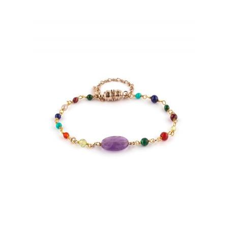 Bracelet coloré medium améthyste | multicolore