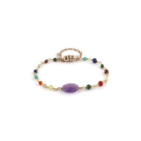 Bracelet coloré small améthyste | multicolore