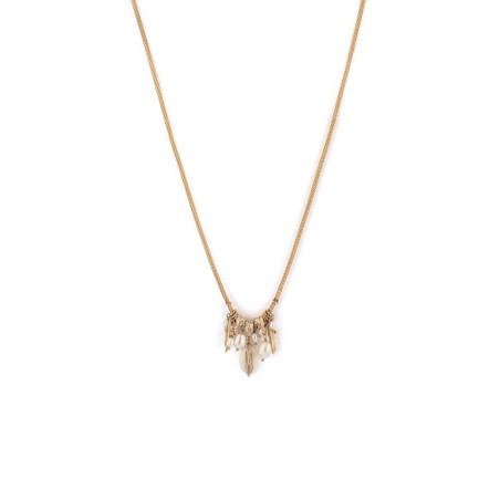 Collier pendentif raffiné nacre blanche perle de rivière   perle