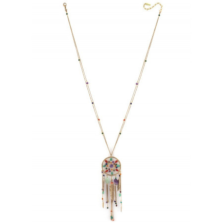 Poetic amethyst and amazonite sautoir necklace | multicoloured73175