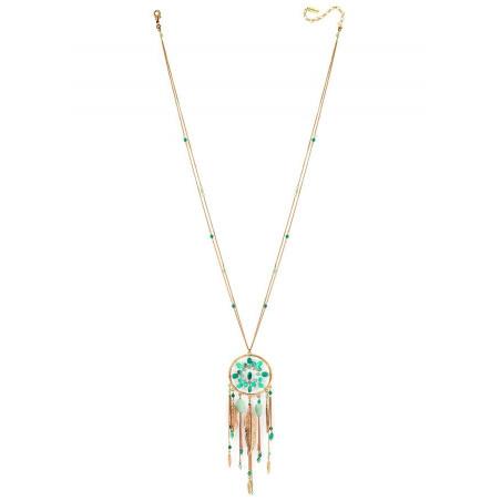 Collier sautoir glamour turquoise et amazonite   turquoise73181