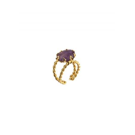 Poetic amethyst adjustable ring|purple