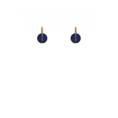 Summery feather sleeper earrings | blue