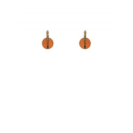 Boucles d'oreilles dormeuses glamour plumes | orange