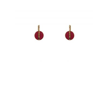 Sensual feather sleeper earrings | red