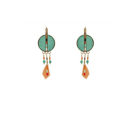 Pop feather sleeper earrings | turquoise