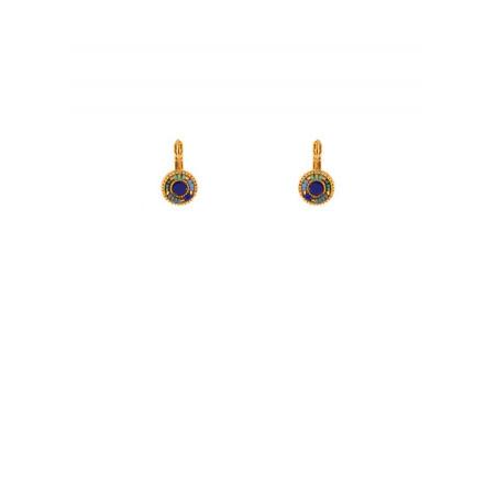 Beautiful sleeper earrings with Japanese beads | blue