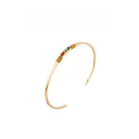 Bracelet jonc raffiné perles du Japon | multicolore