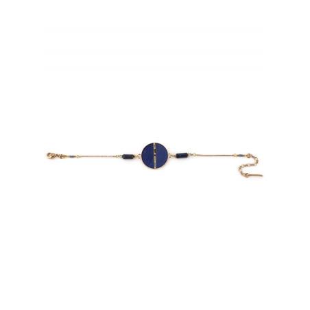 Bracelet souple élégant plumes et lapis lazuli   bleu73256